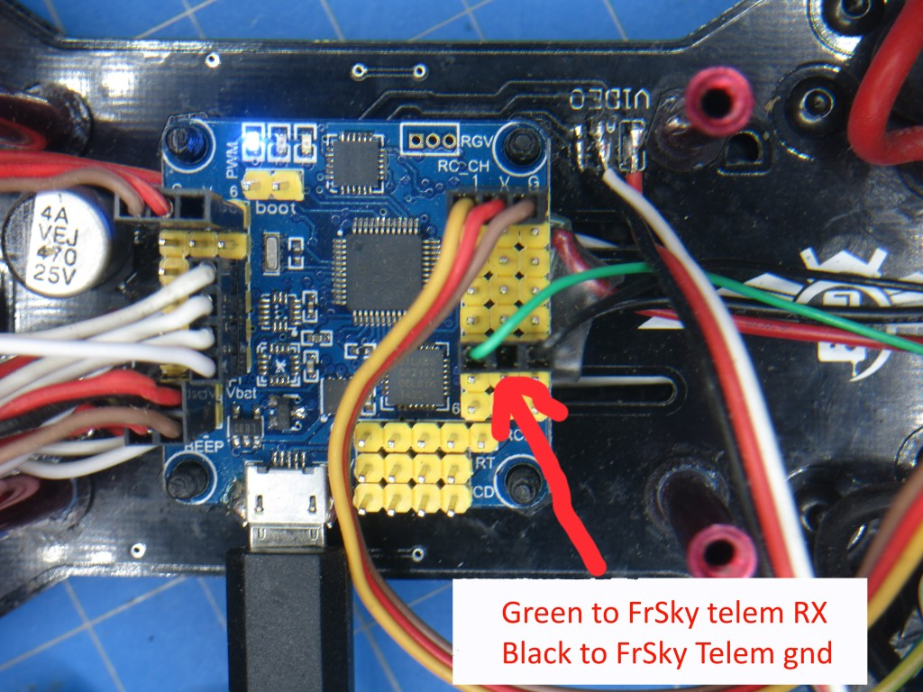 Using Frsky Telemetry With Naze32 And Cleanflight Using Softserial